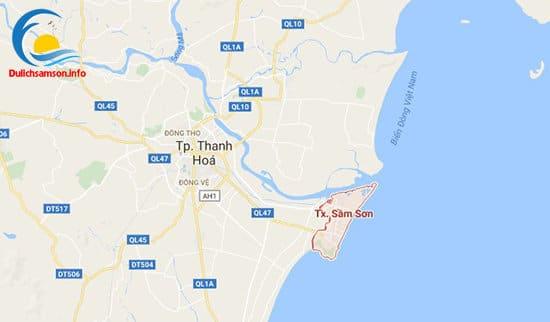 Vị trí bãi biển Sầm Sơn Thanh Hóa