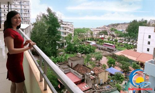 Ban công khách sạn Mai Hà Sầm Sơn