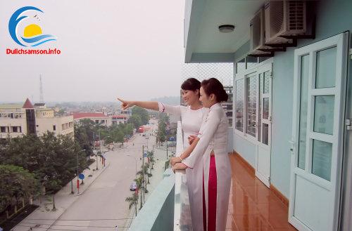 Ban công tại khách sạn Thanh Lan Sầm Sơn
