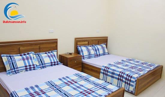 Giường đôi khách sạn Bộ Ngoại Giao Sầm Sơn
