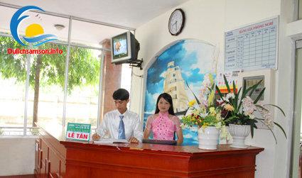 Lễ tân khách sạn Bia Thanh Hoa Sầm Sơn