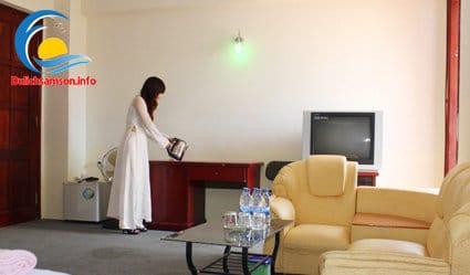 Nội thất phòng nghỉ khách sạn Bia Thanh Hoa Sầm Sơn