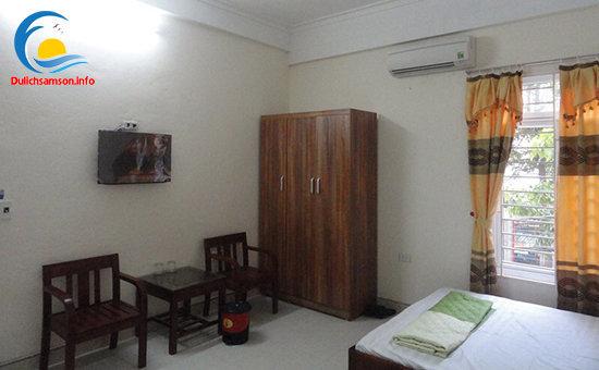 Nội thất phòng nghỉ Khách sạn Quang Minh Sầm Sơn