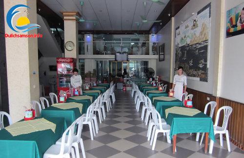 Phòng ăn khách sạn Thanh Lan Sầm Sơn