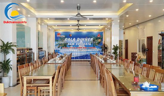 Phòng ăn khách sạn Thanh Long Sầm Sơn