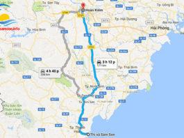 Sầm Sơn cách Hà Nội bao nhiêu km