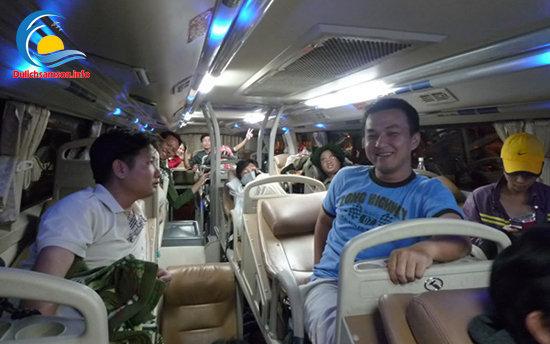 Nội thất xe giường nằm Nhà xe Tuân Yến Sầm Sơn